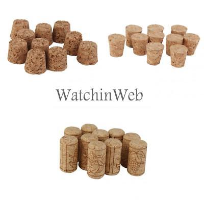 30pcs Tapered Cork Stoppers Wine Bottle Bung Corks Craft DIY Findings 3 Size