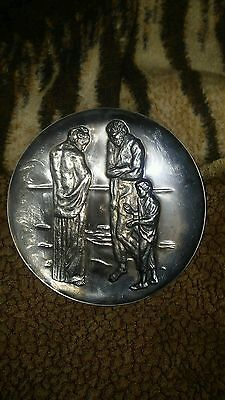 1972 Picasso .999 Fine Sterling Silver Plate The Tragedy