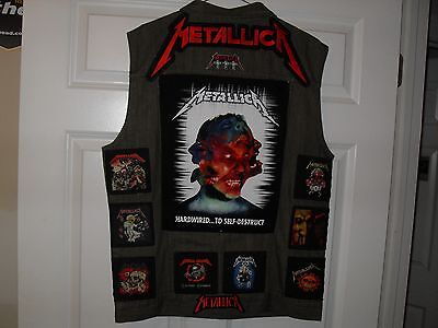 METALLICA Tribute Vests-GREEN-2XL...Slayer,AC/DC,Megadeth,Overkill,Anthrax