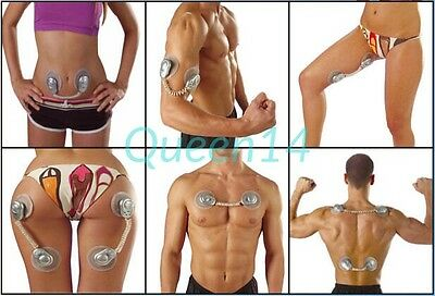 Abs Toner Belt Electric Muscle Stimulator Chest Arms Bum Legs Body Toning Uk