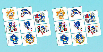 Sega's Sonic the Hedgehog Temporary Tattoo Favors Birthday Party Supplies ~ 16ct