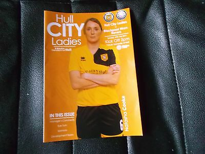 HULL CITY LADIES AFC V BLACKPOOL WREN ROVERS Season 2016/17 match Programme