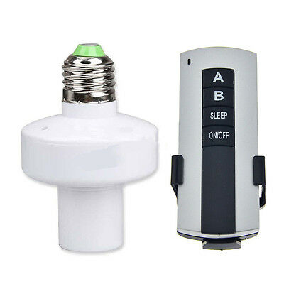 HOT E27 Screw Wireless Remote Control Light Lamp Bulb Holder Cap Socket Switch