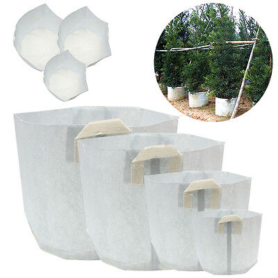 5 Packs Fabric Grow Bags Smart Pots Container 5 15 50 80 Gallon New