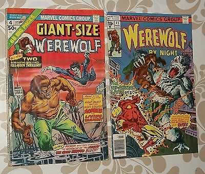Giant-Size Werewolf #4 and Werewolf by Night #43, lot of 2 comics, free shipping