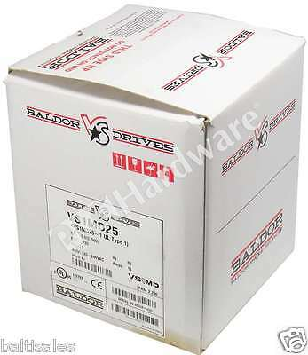 New Baldor VS1MD25 Variable Frequency Drive 220-240V AC 3-Ph 5HP 16A