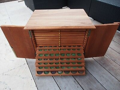 Coin chest  with 16 drawers Hand-made