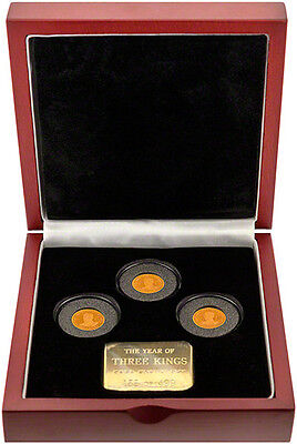 2010 Three Kings Crown Presentation Boxed 3 Coin Proof Set ONLY 499 Minted !!