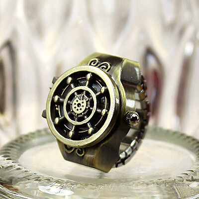 Fashion Vintage Women Men Retro Finger Ring Quartz Watchs Antique Gift
