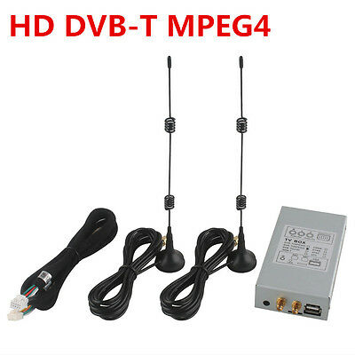External HD DVB-T MPEG4 Digital TV Box Dual Antenna for Ownice Car DVD Player