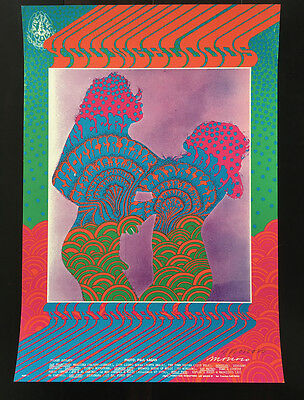 FD 81 Victor Moscoso SIGNED Family Dog YOUNGBLOODS poster BG aor