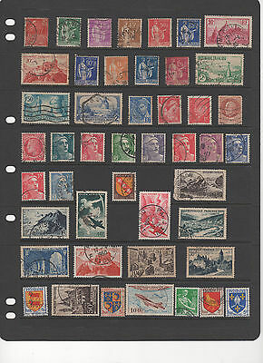 France - 1930 - 1954 , 46 used stamps see scan