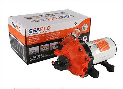 SeaFlo High Pressure Marine Water Pump 12 or 24 V DC 60 PSI 5 GPM on demand