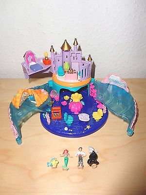 Polly Pocket Mini Disney - Arielle Glitzer Schloß - inklusive 4 Figuren