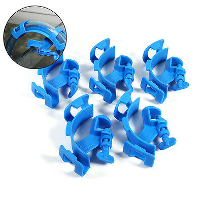 5x Fish Tank Aquarium Filtration Water Pipe Filter Hose Holder For Mount Tube ZY