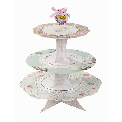 * Talking Tables Frills and Frosting Party 3 Tier Card Cake Stand - High Tea ...