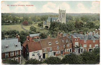 1910  WOBURN St Mary's Church  Bedford  Postcard