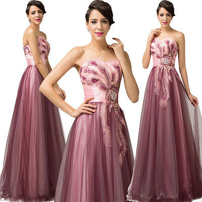 Formal Wedding Evening Ball Gown Party Prom Bridesmaid Dress Cocktail Dresses