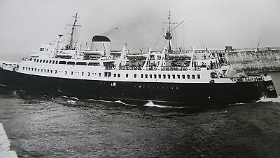 Vintage Rp Postcard Of The Ship Ferry  Liner Lisieux Leaving Dieppe France
