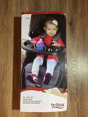 Britax B-Agile Child Tray for Baby Strollers Unisex Color Black Easily Attaches