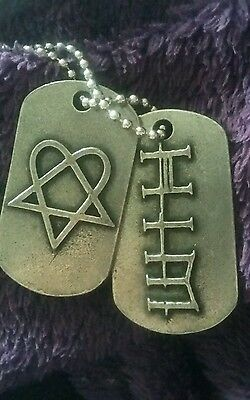 Rare HIM Heartagram Dog Tags - Official Merch! Ville Valo