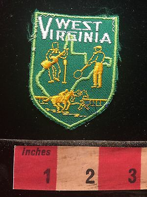 Vtg West Virginia Patch Emblem ~ Music And Horse S60B