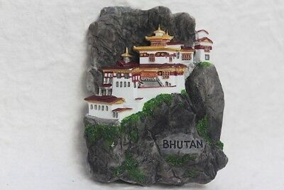 Monastery BHUTAN 3D Resin Fridge Magnet Collectibles Souvenir Tourist Gift Asia