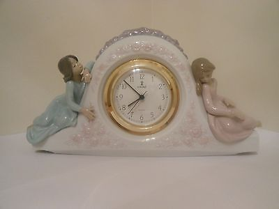 Lladro Two Sisters Clock in perfect condition