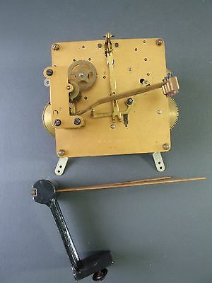 Vintage chiming mantel clock movement with chimes for repair or spares