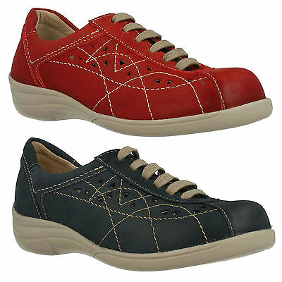 Db Easy B Hornsea Ladies Leather Lace Up Flat Casual Everyday Trainers Shoes