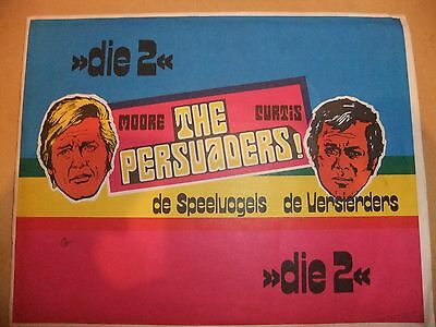 THE PERSUADERS! MONTY GUM ALBUM with 72  cards ROGER MOORE TONY CURTIS STUCK IN