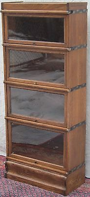 Excellent 3/4 Sized Globe Wernicke Oak Barrister Bookcase