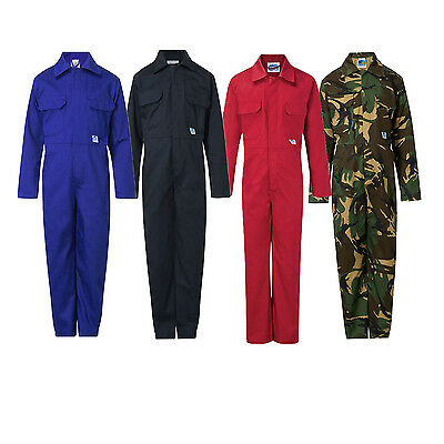 Kids Childrens Overall Coverall Boiler Suit Mechanics Workwear Student 333