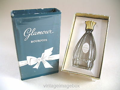 Bourjois Glamour vintage perfume bottle boxed, miniature mini glass with box