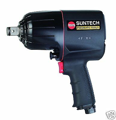 "SUNTECH 3/4"" Pneumatic Air Impact Wrench Dual Twin Hammer 1500 ft-lbs torque"