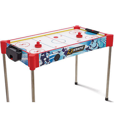 Free Standing Table Top Air Hockey Puck Pusher Set Family Children Party Game