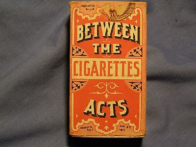 Vintage Original 1883 Between The Acts Cigarette Box Very Nice Complete Box