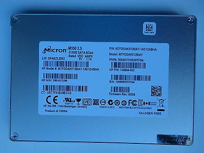 """Micron M550  512GB 2.5""""  SSD / Kingston / Sandisk / Pictures and details below"""