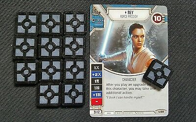 Star Wars Destiny Credit Resource Tokens! Dual Colored! 12 Tokens!