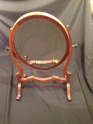 Antique Edwardian Mahogany Swivel Dressing table mirror original glass - (1691)