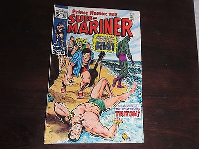 Sub-Mariner #18 (Oct 1969, Marvel) 6.5-7.0 FN+/VF-