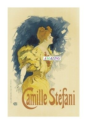 Vintage Style French Art Nouveau Advertising Poster: Camille Stefani: A4