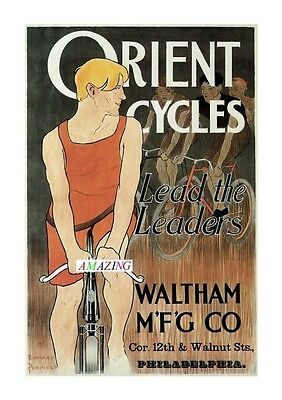 Vintage Style American Bicycle Advertising Poster: Orient Cycles: A4