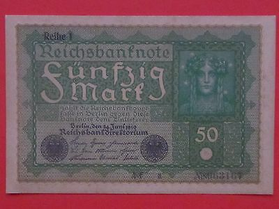 Germany ( 1919 Unc ) 50 Mark Beautiful Rare Bank Note, Unc