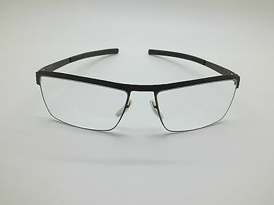 NEW Authentic IC BERLIN Lucomagno Graphite Grey 56mm Eyeglasses w/ Case