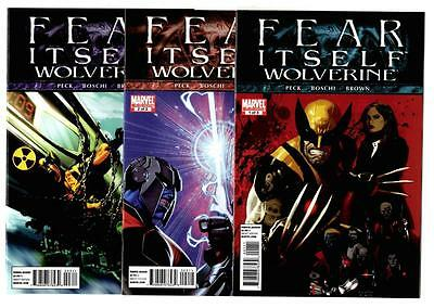 Fear Itself Wolverine #1-3 Complete Limited Series (2011) Marvel VF/NM To NM-