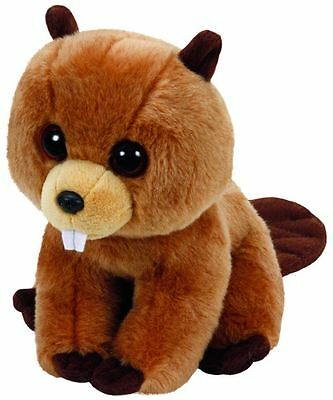 Richie Beaver - Ty Beanie Babies 6 inch - TY Boo Plush Teddy - New Soft Toy