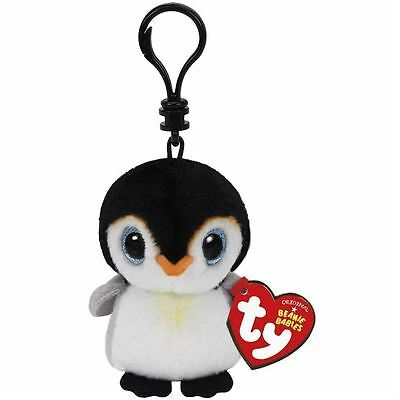 Pongo Penguin - Ty Beanie Babies Keyring Key Clip - Plush Boo Babies Toy Teddy