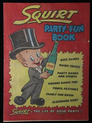 Vintage 1953 Squirt Soda  POP Party Fun Book Comic Book 15 pages Good Cond