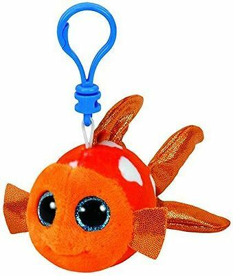 Sami Orange Fish - Ty Beanie Boos Keyring Key Clip - Plush Boo Babies Toy Teddy